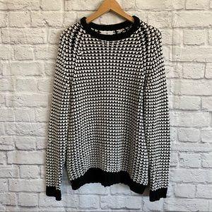 CHEAP MONDAY Black White Knit Sweater